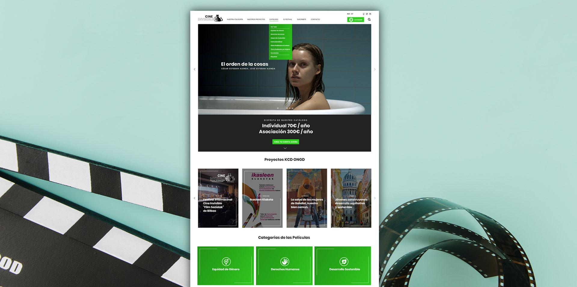 Diseño UX Plataforma Cine Invisible